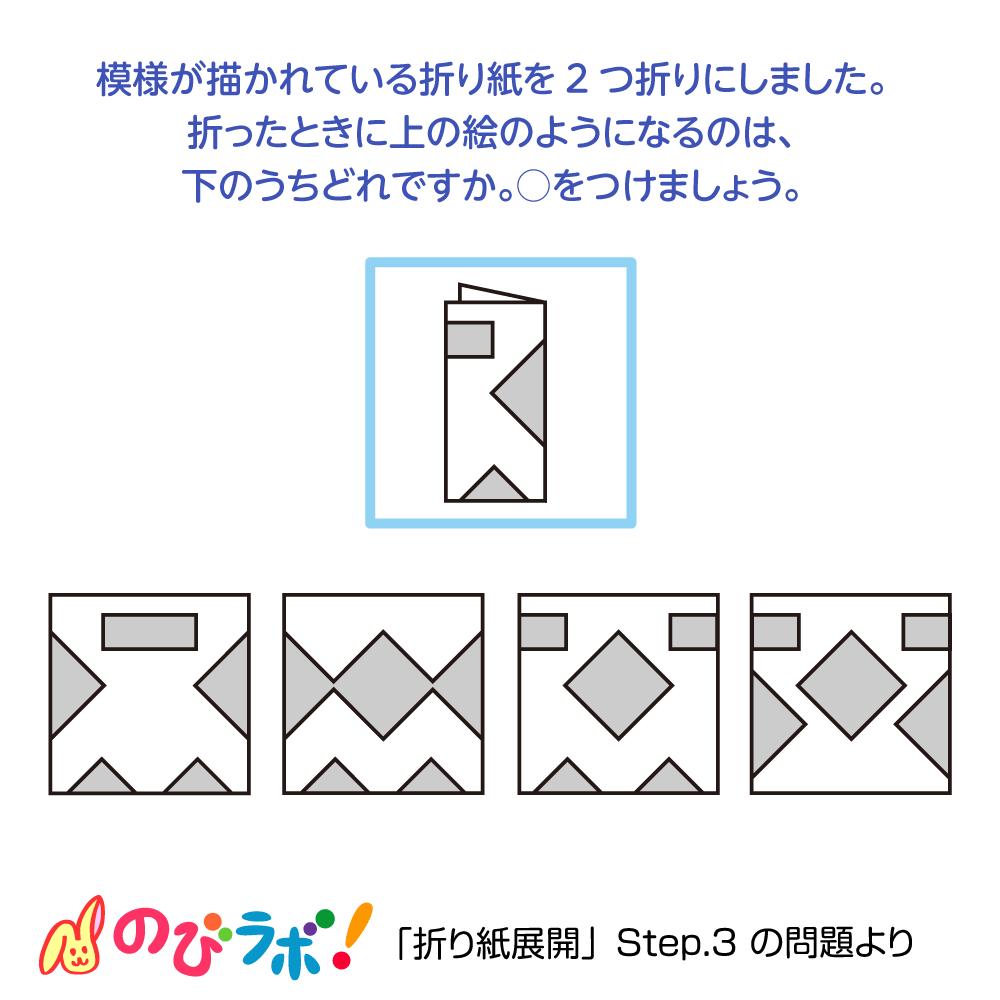 やってみよう「折り紙展開」の問題16