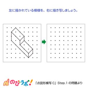やってみよう「点図形模写」の問題13