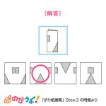やってみよう「折り紙展開」の問題11-解答