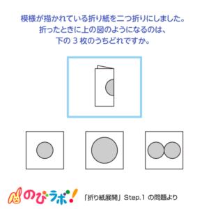 やってみよう「折り紙展開」の問題14