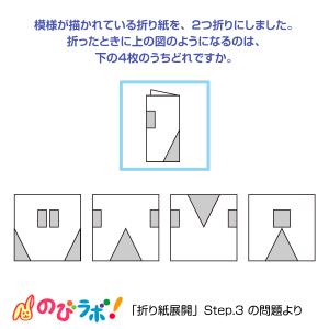 やってみよう「折り紙展開」の問題11