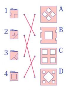 やってみよう!折り紙展開-答え