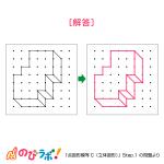 やってみよう「点図形模写(立体図形)」の問題10-解答