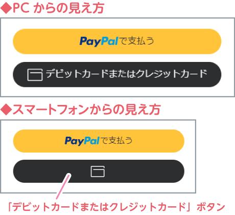 「PayPalで支払う」ボタン