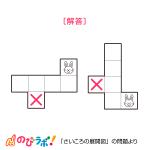 やってみよう「さいころの展開図」の問題8-解答
