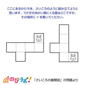 やってみよう「さいころの展開図」の問題8